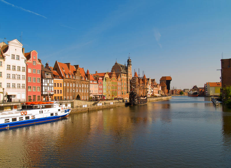 Download Bulwaru Gdansk Motlawa Rzeka Zdjęcie Stock - Obraz: 24062390