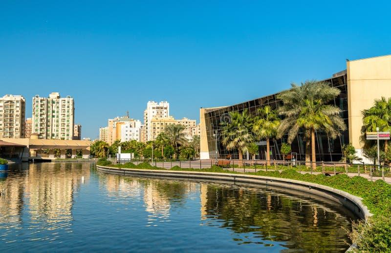 Bulwaru park w Salmiya, Kuwejt fotografia royalty free