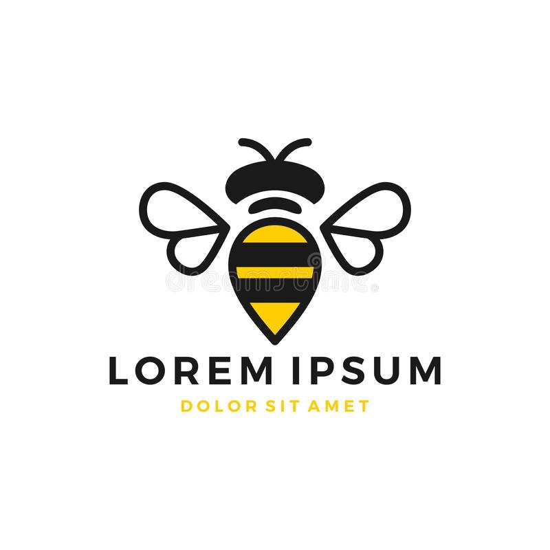 bumble λογότυπο μελισσών ελεύθερη απεικόνιση δικαιώματος
