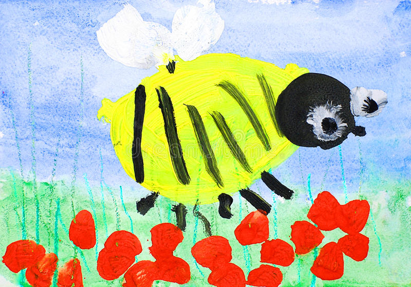 Download Bumble Bee stock illustration. Image of paint, design - 10009817