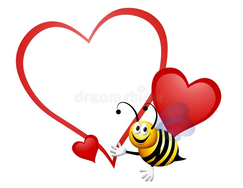 Bumble Bee My Valentine royalty free illustration