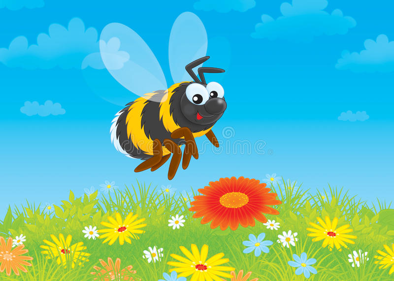 Download Bumblebee stock illustration. Image of florescence, clearing - 28160755