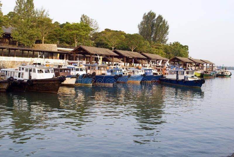 bumboat changi跳船点新加坡 免版税库存图片