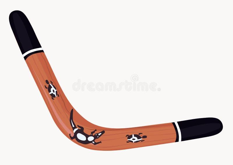bumerang ilustracja wektor