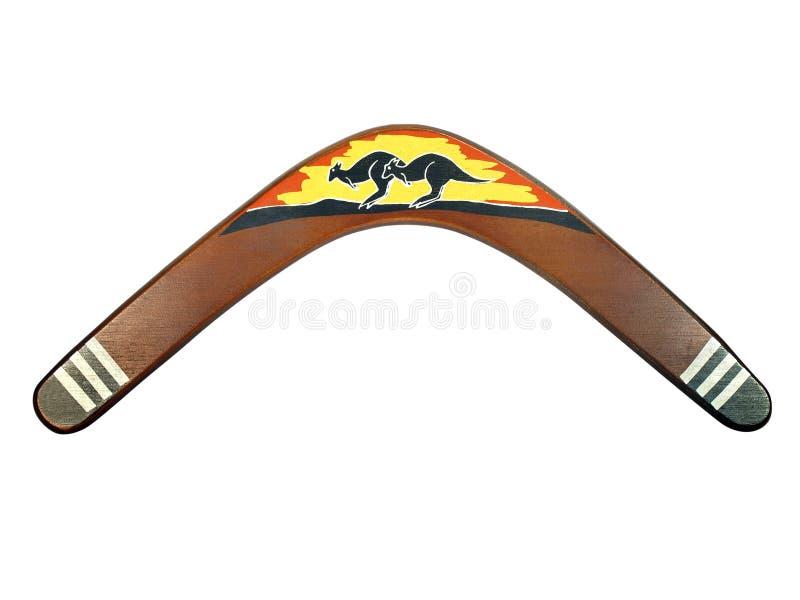 Bumerangue pintado canguru imagens de stock royalty free