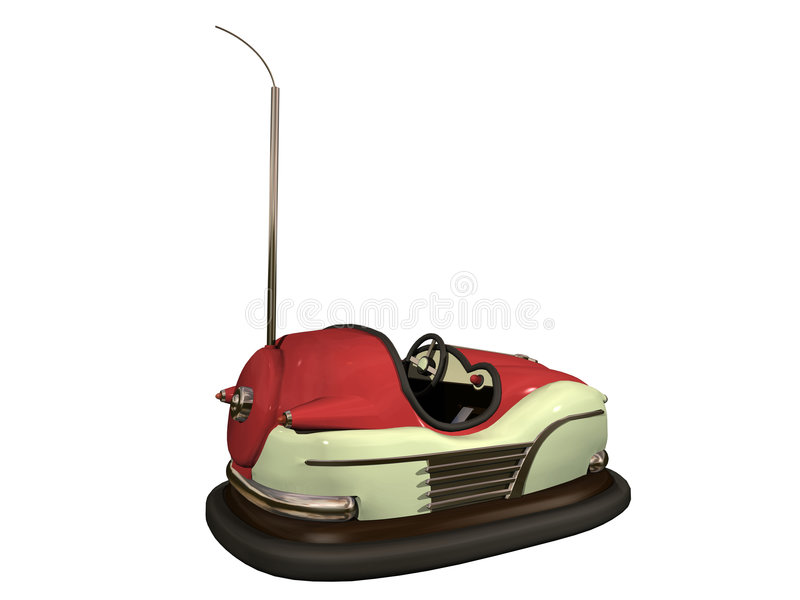 Download Bumper car stock illustration. Image of vintage, electric - 3324052