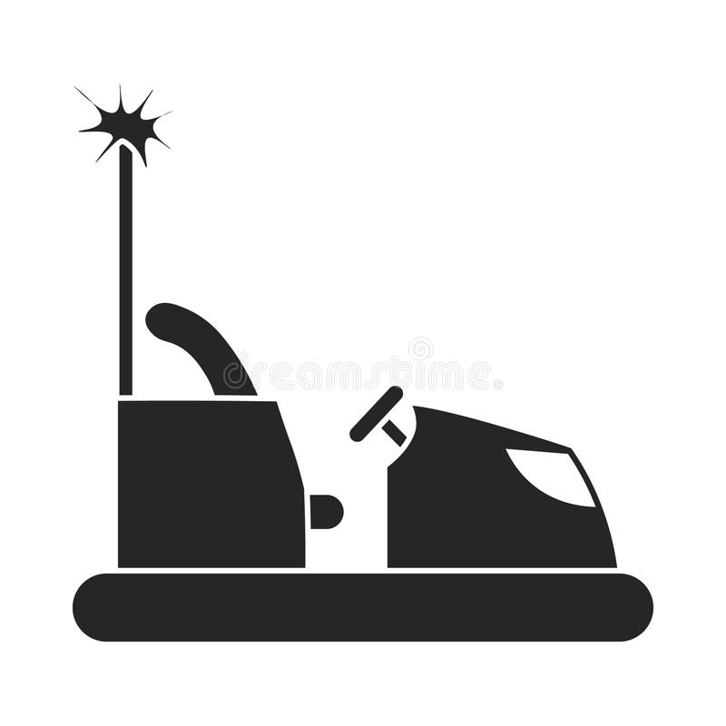 Bumper car icon in black style on white background. Play garden symbol stock vector illustration. royalty free illustration