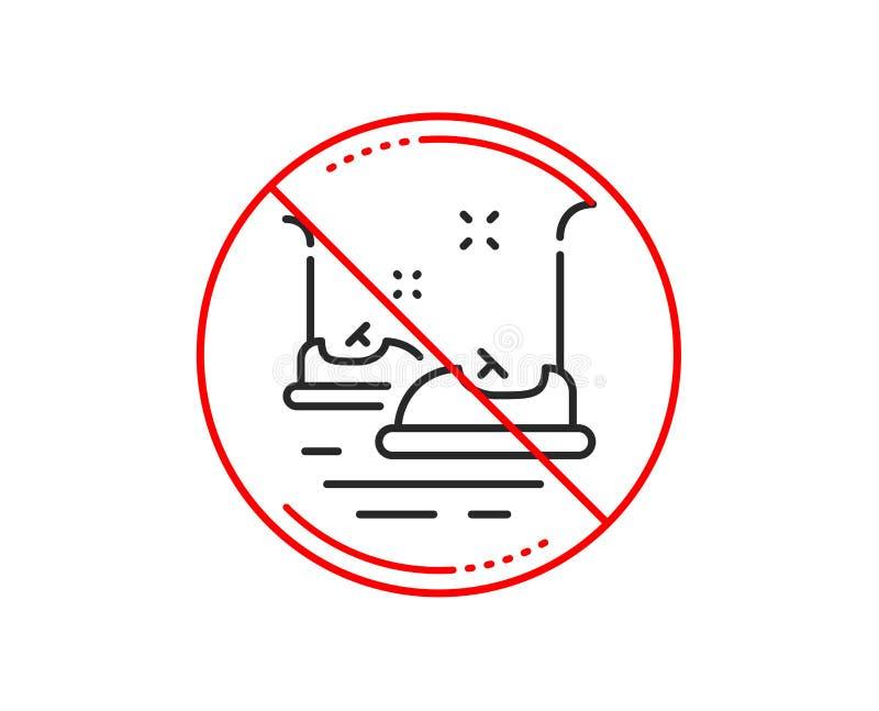 Bumper cars line icon. Amusement park sign. Vector vector illustration
