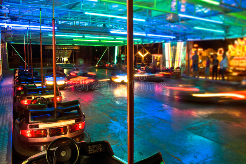 Download Bumper Cars at Night stock image. Image of adolescence - 12565787