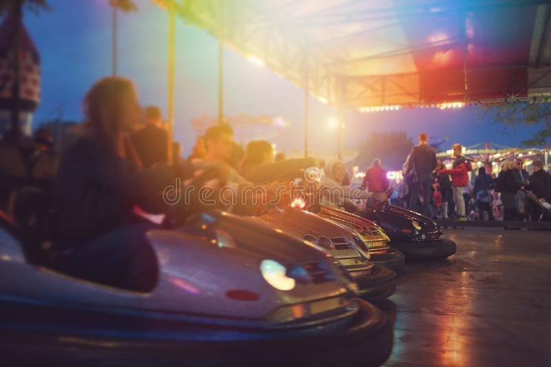 Bumper Cars Ready to Start stock photo