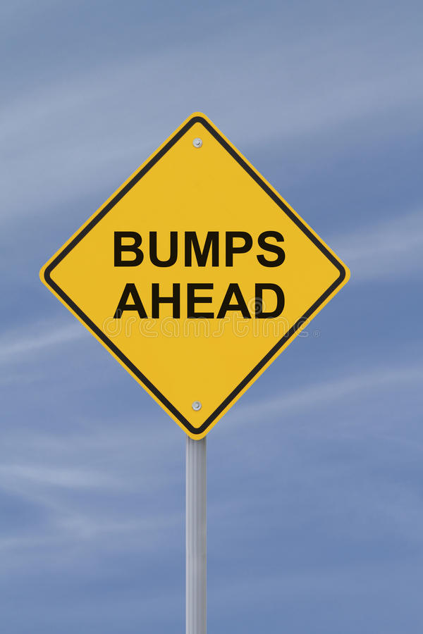 Bumps Ahead royalty free stock image