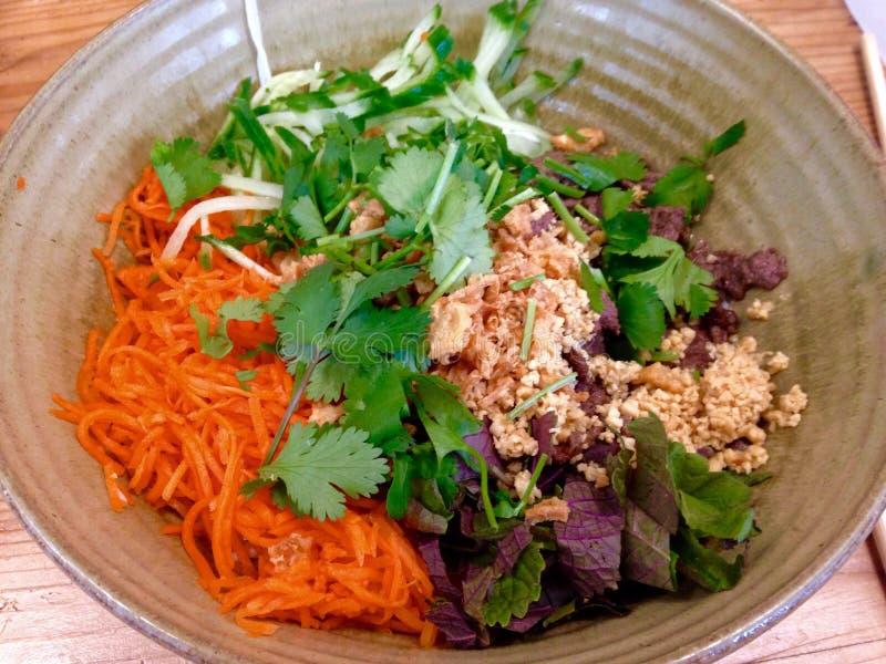 Bun bo nam bo. Vietnamese famous dish bun bo nam bo stock images