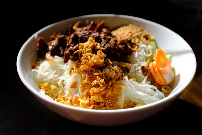 Bun Bo Nam Bo closeup. Bun Bo Nam Bo, a wonderful Vietnamese dish, close up royalty free stock images