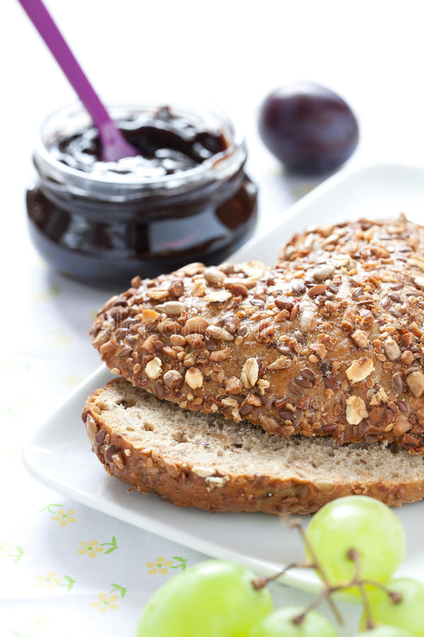 Download Bun and jam stock image. Image of fresh, wheat, bread - 20903653