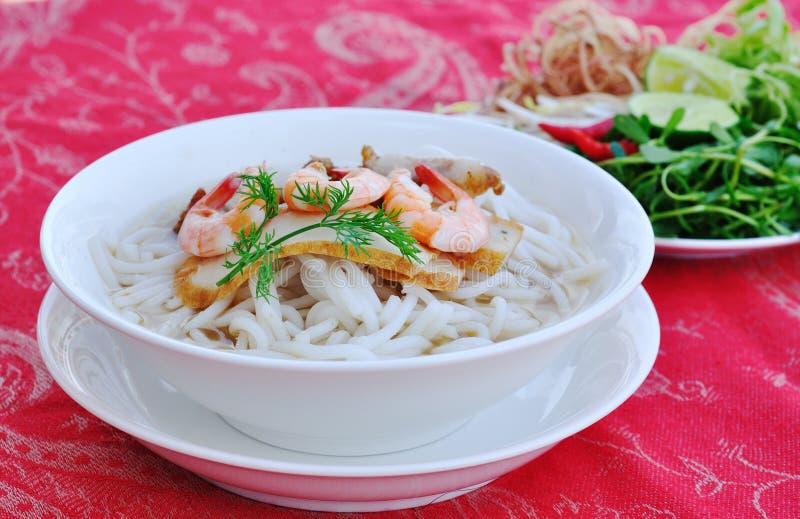 Bun mam - Vietnamese vermicelli soup stock image