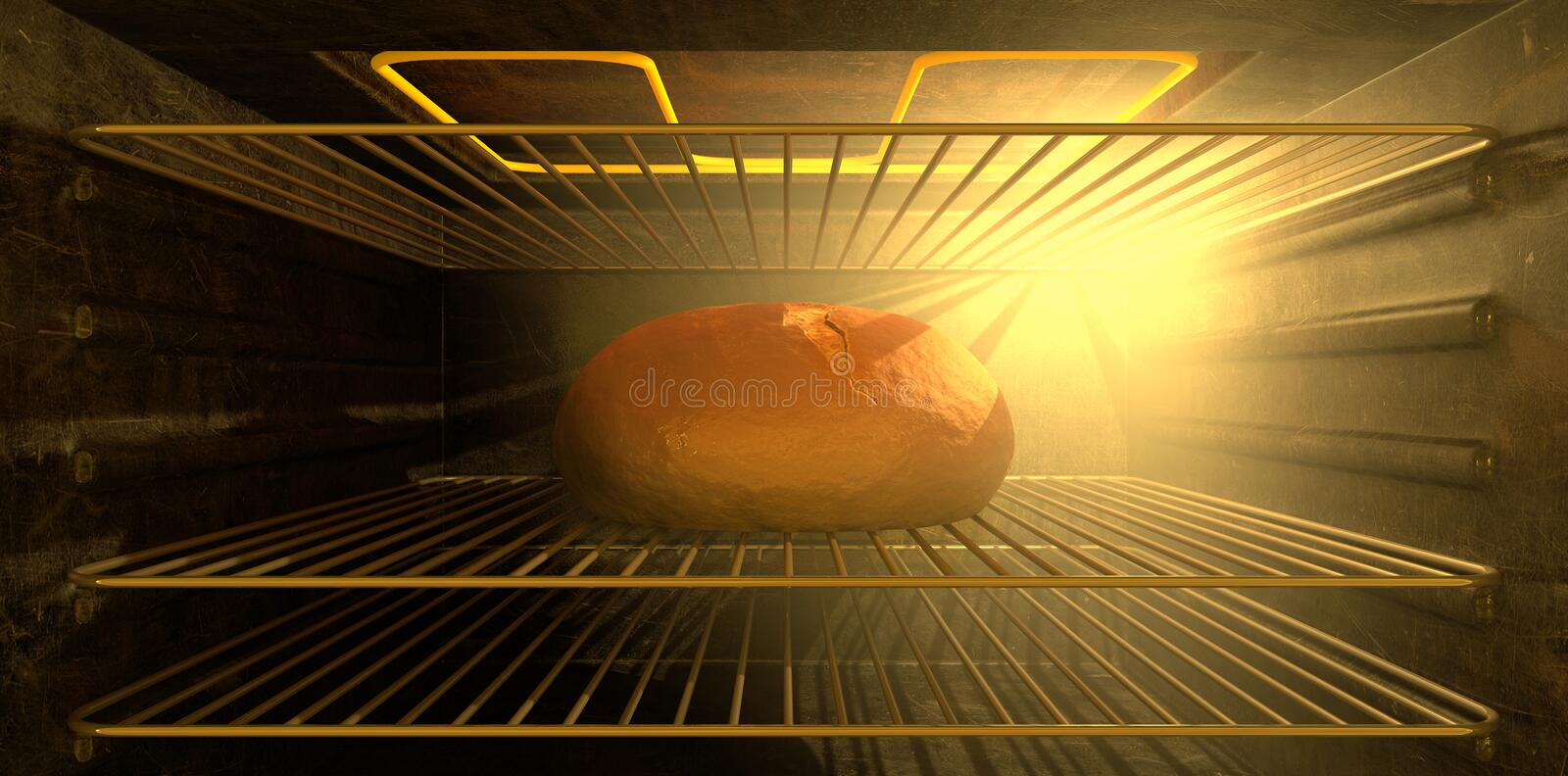 Download A Bun In The Oven stock illustration. Image of oven, shelves - 25459648