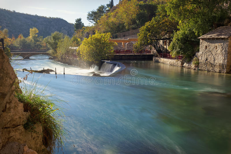 Bunafluß, Bosnien lizenzfreies stockfoto