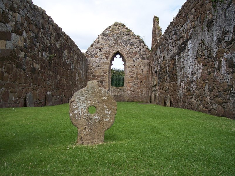 Bunamargy Friary, Co. Antrim stockbild