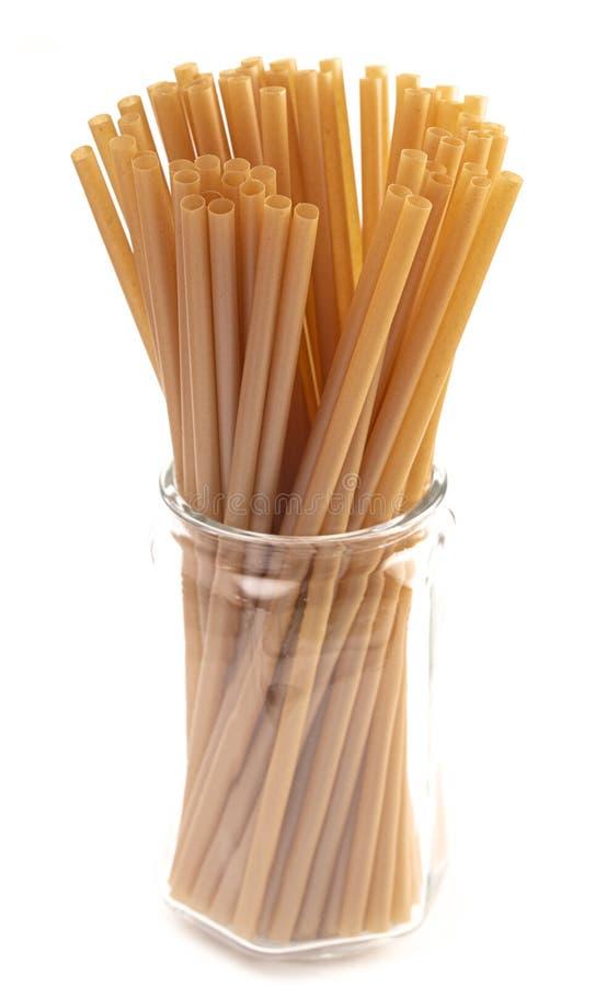 Bunch of Bamboo or Sugarcane Straws an Environmentally Friendly Alternative to Plastic. A Bunch of Bamboo or Sugarcane Straws an Environmentally Friendly stock photos