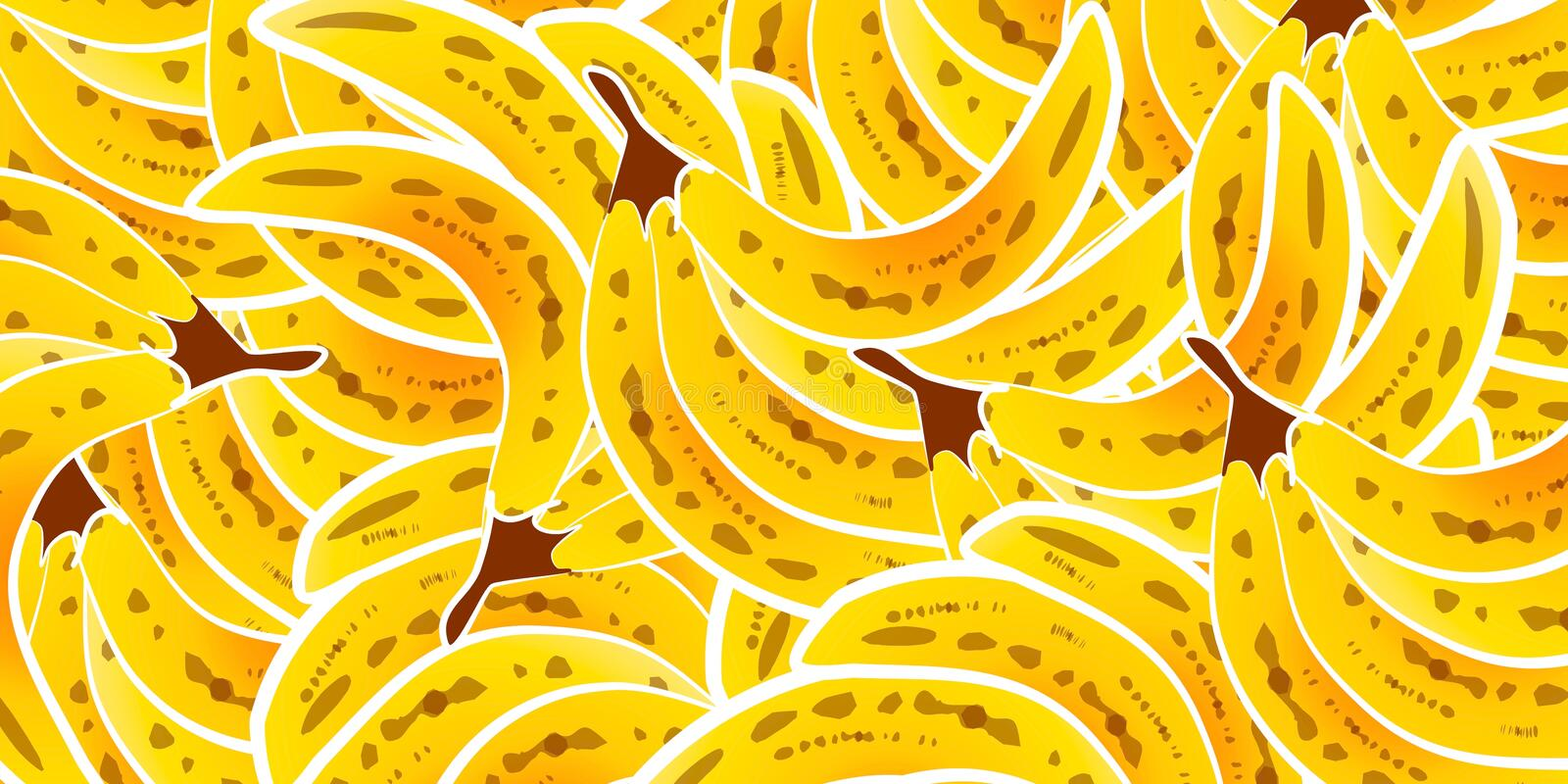Bunch of Bananas Background royalty free stock image
