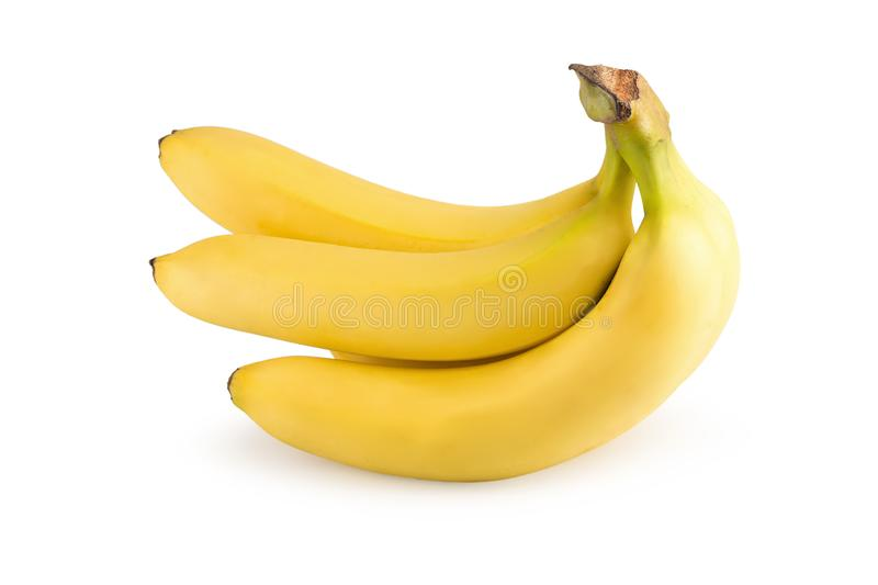 Bunch of bananas isolated on a white background royalty free stock images