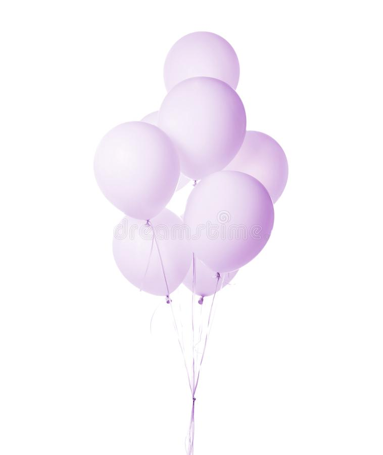 Purple Party Balloons Stock Image. Image Of Card, Colorful