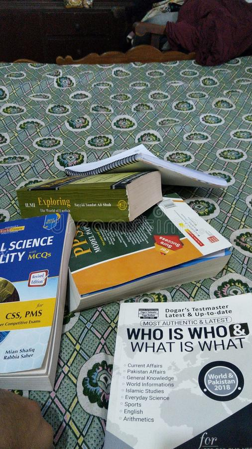 Bunch of books study stuff education royalty free stock photography