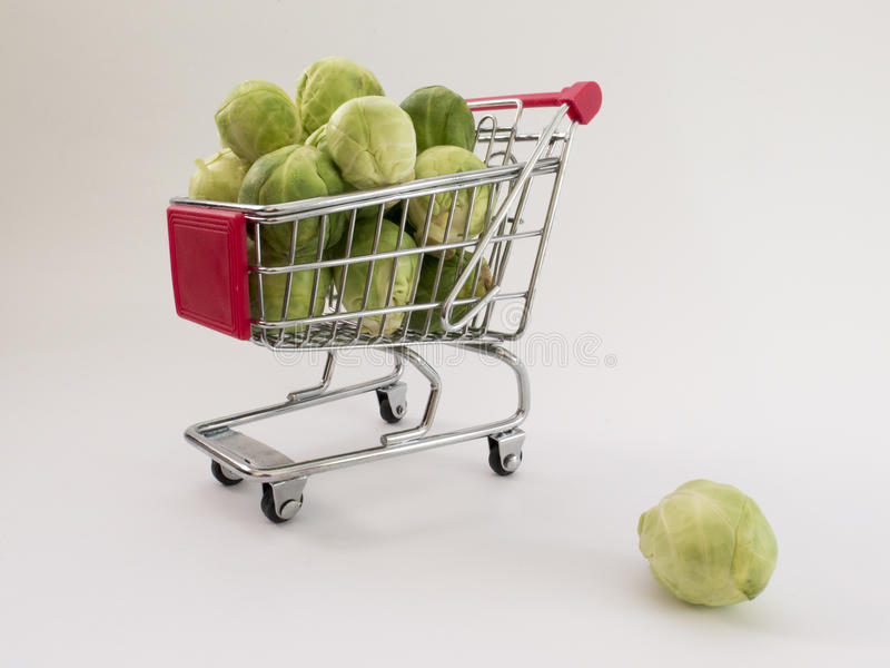 Download A Bunch Of Brussels Sprouts In A Fun Cart Stock Photo - Image of food, supermarket: 83702438