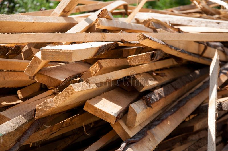 A bunch of chopped boards. Exactly. Folded stock image