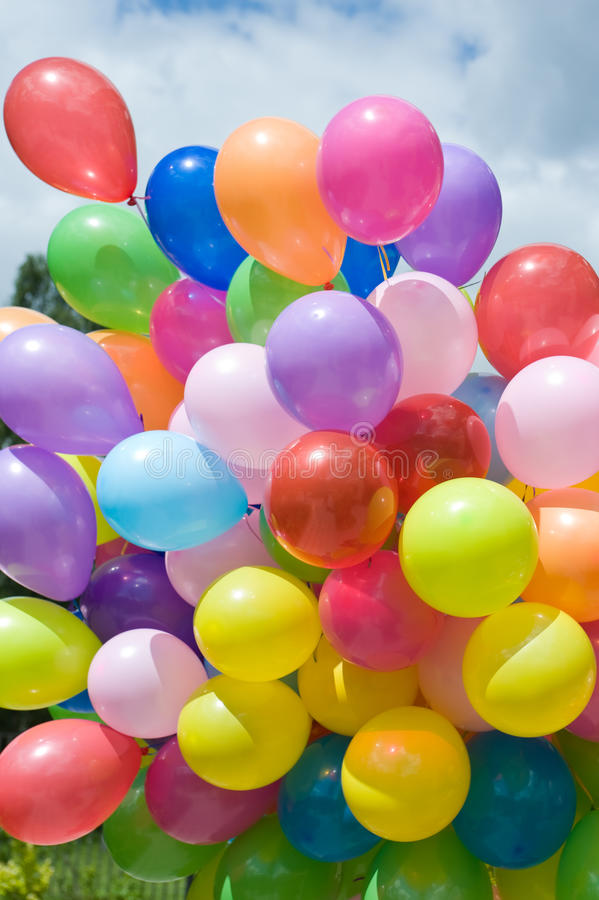 Download Bunch of colorful balloons stock photo. Image of vertical - 25680204