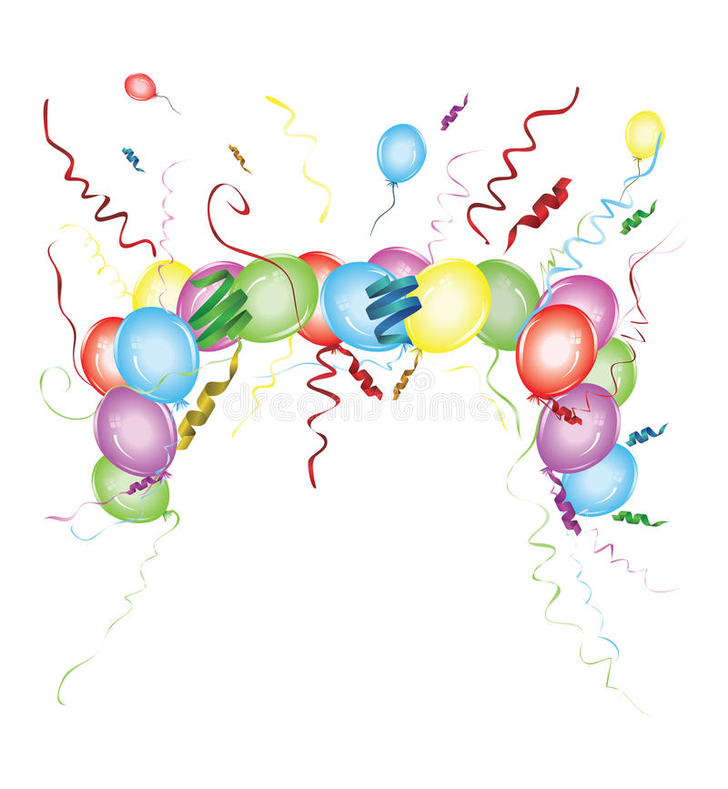 Bunch of colorful balloons royalty free illustration