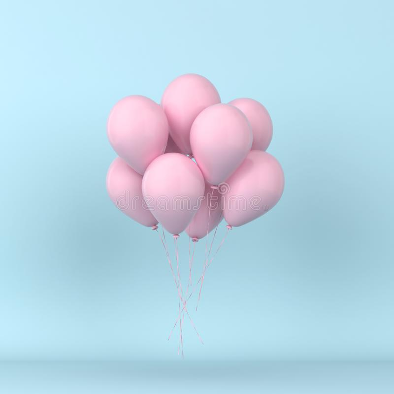 Bunch of colorful balloons floating royalty free illustration
