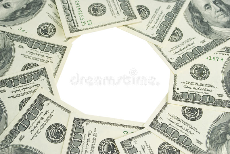 Download Bunch Of Dollars Isolated On White Stock Photography - Image: 12605112