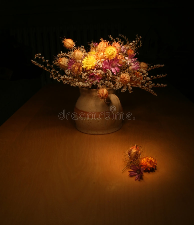 Bunch of everlasting flowers royalty free stock image