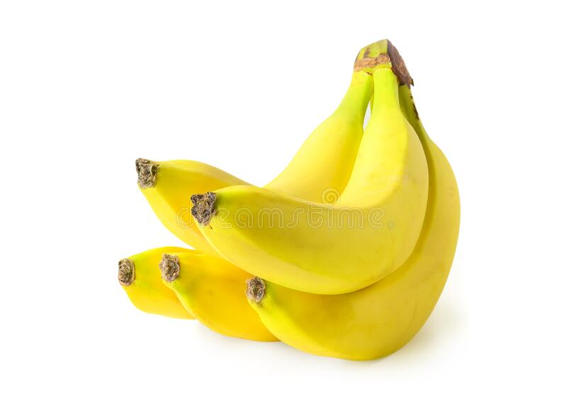 Bunch of bananas isolated on white background stock image