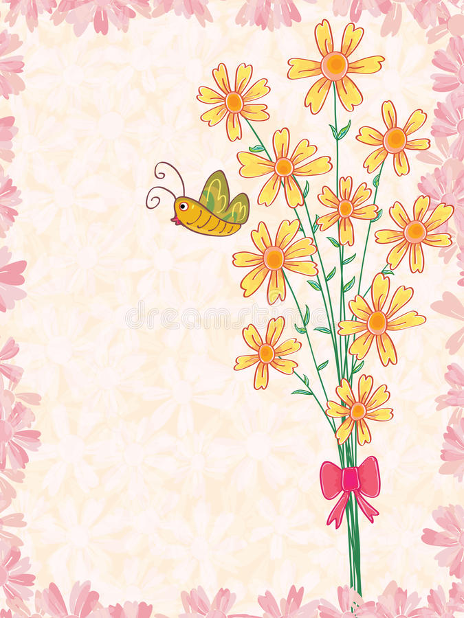 A Bunch Of Flower Butterfly_eps Stock Image