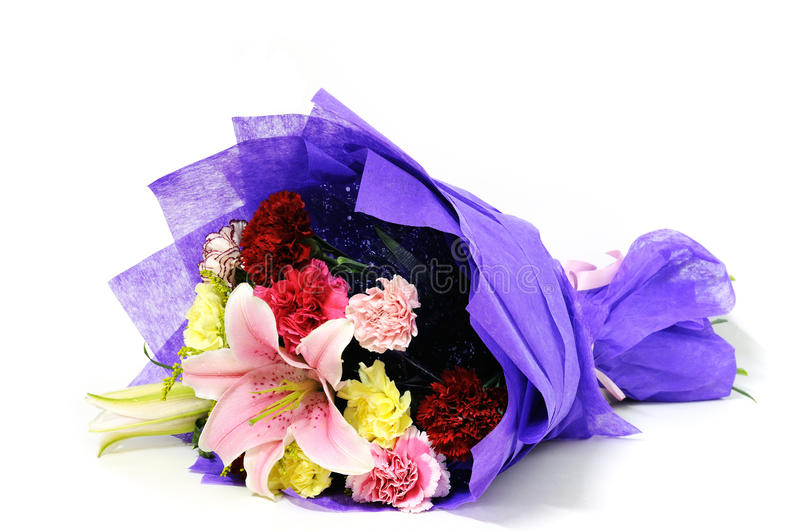 Bunch of flowers. A bunch of flowers,carnation and lily stock image