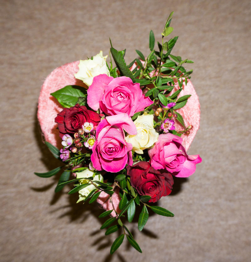 Bunch of flowers. bouqet. valentine's day with love. Bunch of flowers. bouqet. valentine's day royalty free stock photos