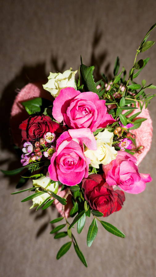 Bunch of flowers. bouqet. valentine's day with love. Bunch of flowers. bouqet. valentine's day stock photography