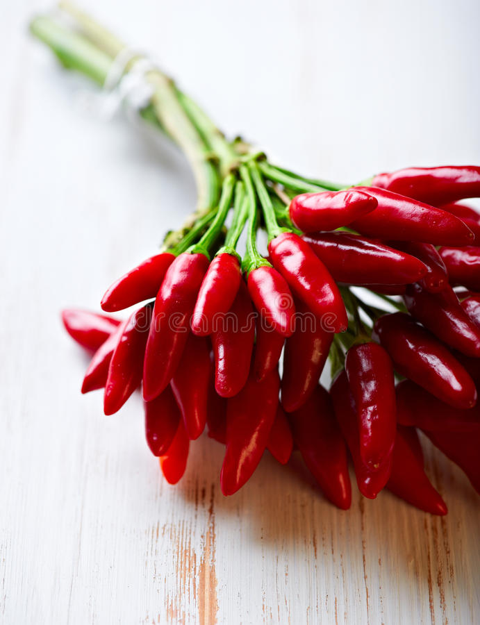 Bunch of fresh chili peppers royalty free stock photo