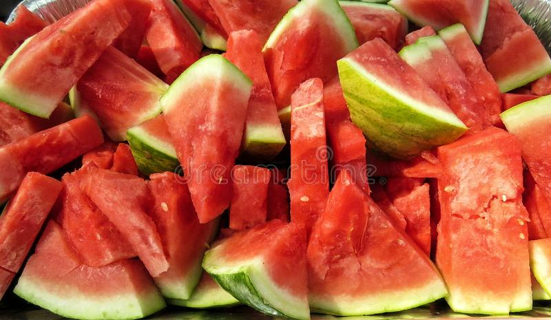 Fresh Watermelon Fruit Slices stock image