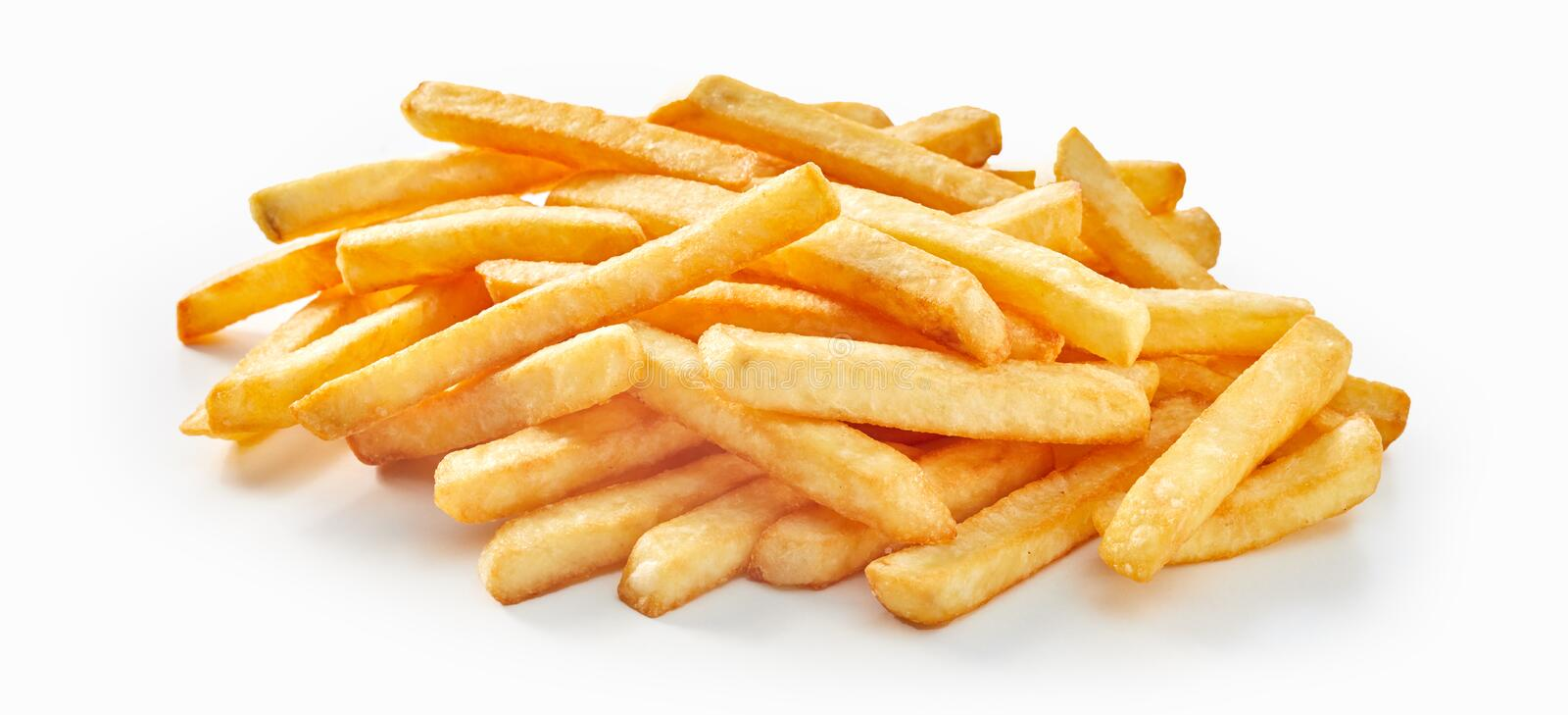 Bunch of fresh deep fried french fries stock photos