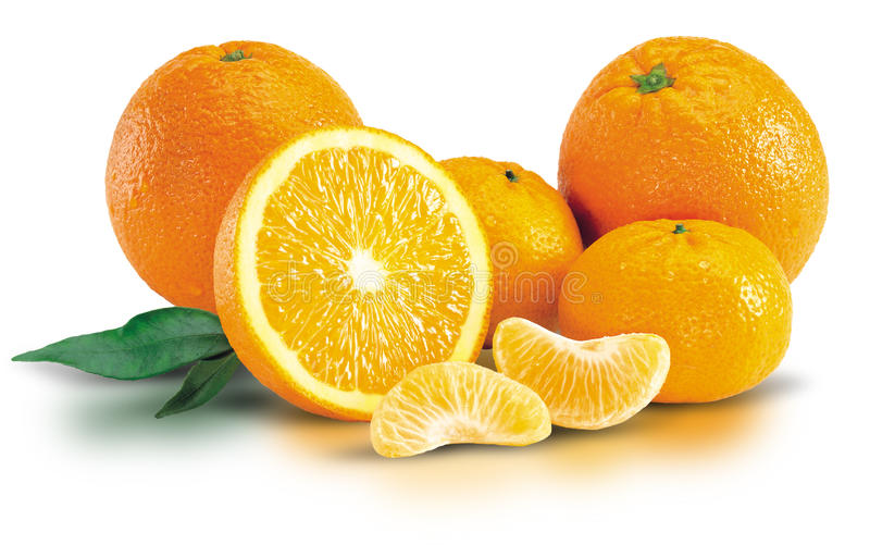 Bunch of Fresh Oranges stock images