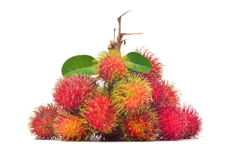 Bunch of fresh rambutan stock photos