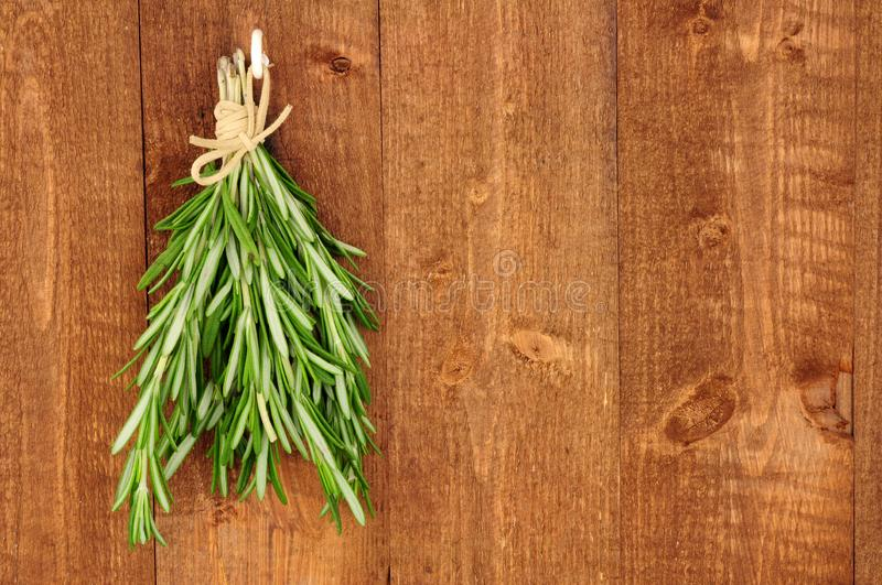 Bunch Of Fresh Rosemary Herb stock image