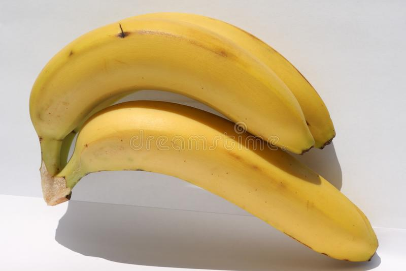 Bunch of fresh whole bananas. stock image
