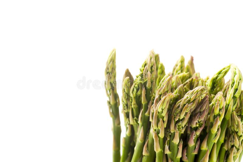 Bunch of Freshly Cut Asparagus Isolated on White royalty free stock images