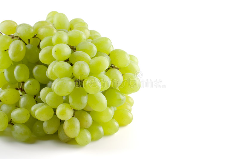 Bunch of grapes. On white royalty free stock images