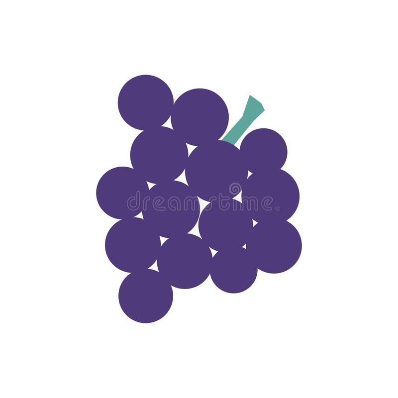 Bunch of grapes isolated graphic illustration royalty free illustration
