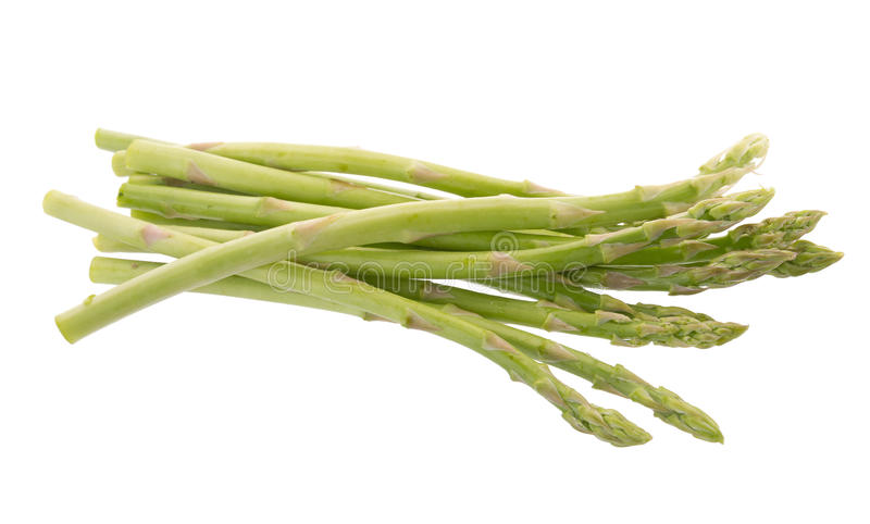 Bunch of green asparagus isolated on white background royalty free stock image